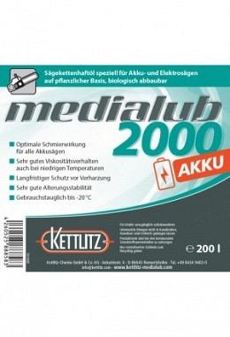 KETTLITZ-Medialub 2000 AKKU - Bio Kettenöl für AKKU / Elektro Kettensägen 200 Liter Fass